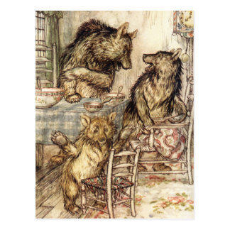 Goldilocks and The Three Bears Postcard