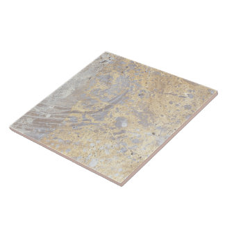 Goldish Beige Grey Marble Limestone Pattern Ceramic Tile