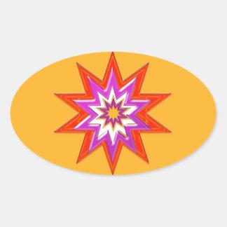 GOLDSTAR Blessing Greeting Goodluck LOWPRICE Oval Sticker