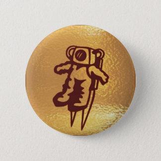 GoldStar, Star, Orbit, Robot : Joshino Gozzlo 6 Cm Round Badge