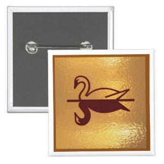Goldstar Swan Bird Lake - Medal Icon Gold Base Button