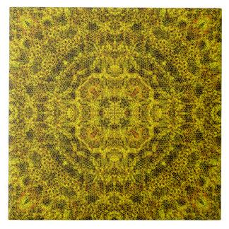 Goldweb Filigree Large Square Tile