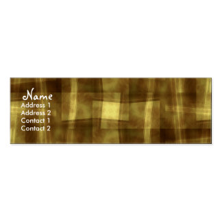 GOLDY-ABSTRACT Profile Card Pack Of Skinny Business Cards