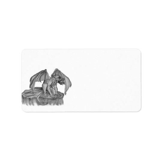 GOLEM - Gargoyle black-and-white Design Label