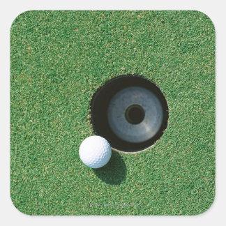 Golf 2 square sticker