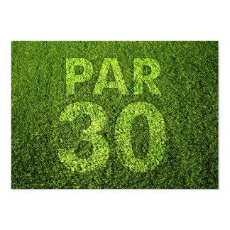 Golf 30th Birthday Party Card