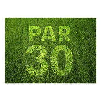 Golf 30th Birthday Party Invite