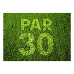 Golf 30th Birthday Party Personalised Invitation