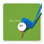 Golf 30th Birthday - Still Swinging! 13 Cm X 13 Cm Square Invitation Card