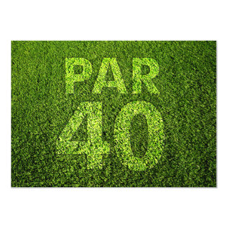 Golf 40th Birthday Party Card