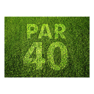 Golf 40th Birthday Party Invites