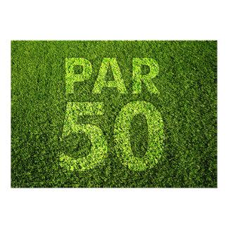 Golf 50th Birthday Party Invitations