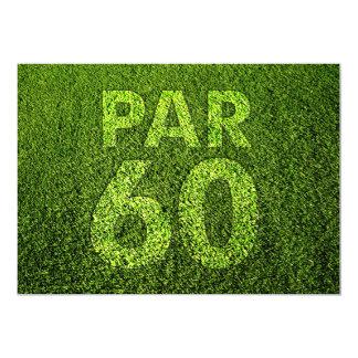 Golf 60th Birthday Party 13 Cm X 18 Cm Invitation Card