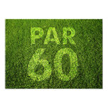 Golf 60th Birthday Party Personalized Announcements