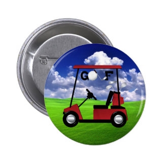 Golf 6 Cm Round Badge
