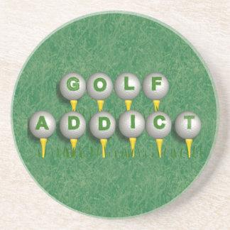 Golf Addict Sandstone Coaster