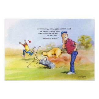 Golf advice photo print
