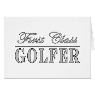Golf and Golfers First Class Golfer Card