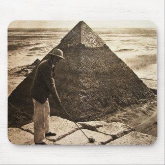 Golf at the Pyramid Sepia Toned Mouse Pad