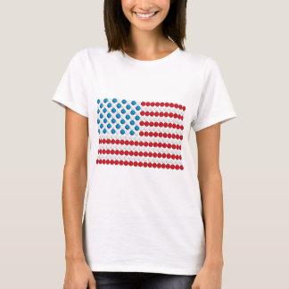 Golf Ball American Flag T-Shirt
