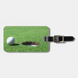 Golf Ball and Hole Luggage Tag