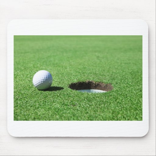 Golf Ball and Hole Mouse Pads