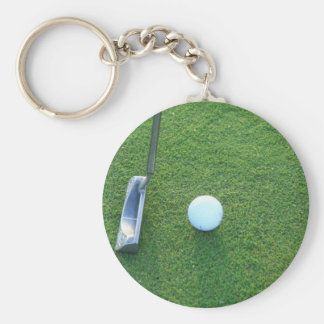 Golf, Ball and Putter Key Ring