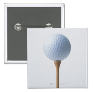 Golf Ball and Tee 15 Cm Square Badge