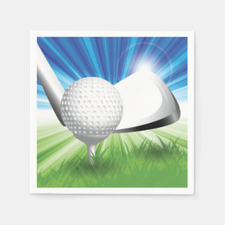 Golf Ball and Tee Paper Napkins Disposable Serviette