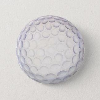 Golf Ball Button/Badge 6 Cm Round Badge