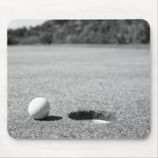 Golf Ball By Hole Mouse Pads
