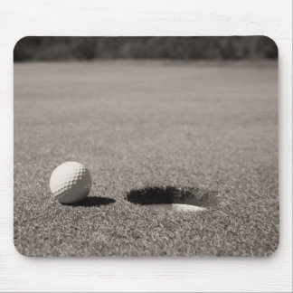 Golf Ball by Hole Mouse Pad