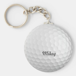 Golf Ball Customizable Basic Round Button Key Ring