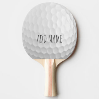 Golf Ball Dimples with Custom Name