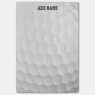Golf Ball Dimples with Custom Name Post-it® Notes