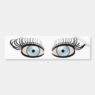Golf Ball Eyes Bumper Sticker