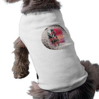 Golf Ball Frame Template Dog Tee Shirt