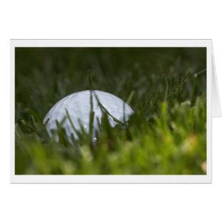golf ball hiding greeting card