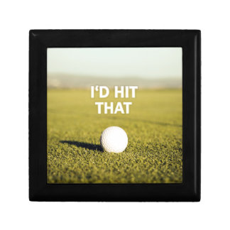 Golf ball I'd Hit That Design Small Square Gift Box