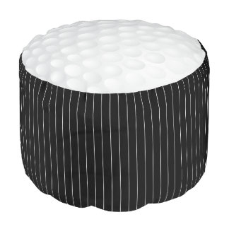 Golf Ball in Black & White Sport Pattern Pouf