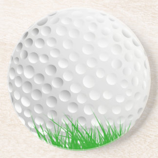 Golf ball in Grass Coaster