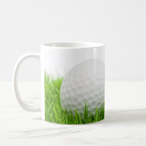 Golf Ball In Grass Mug