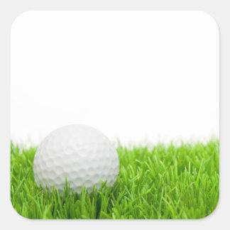 Golf Ball In Grass Square Sticker
