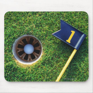 golf ball in hole mouse pads