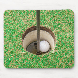 Golf Ball in Hole Mousepad
