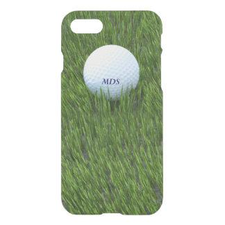 Golf Ball in the Rough Green Grass Monogram iPhone 7 Case