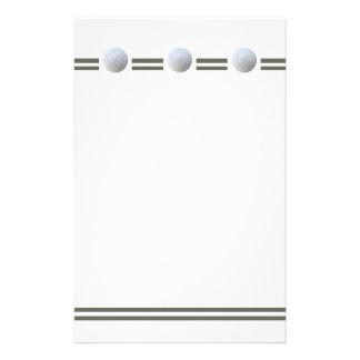 Golf Ball in Triplicate Stationery Design
