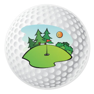 Golf ball knob