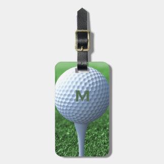 Golf Ball Monogram Bag Tag for Golf Bags