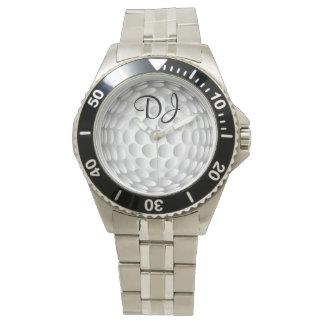 Golf ball, monogram, watch